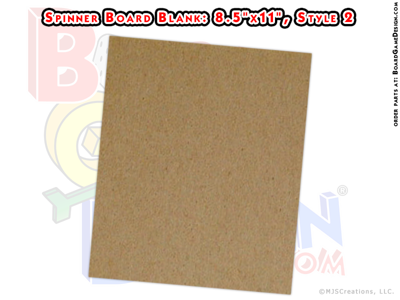 "Game Spinner Board Blank 8.5""x11"" (style 2)"