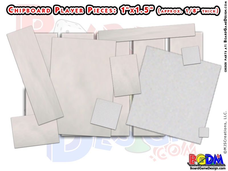Chipboard Pieces, Make Your Own Game Pieces