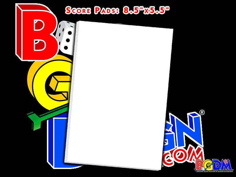 Game Score Pads