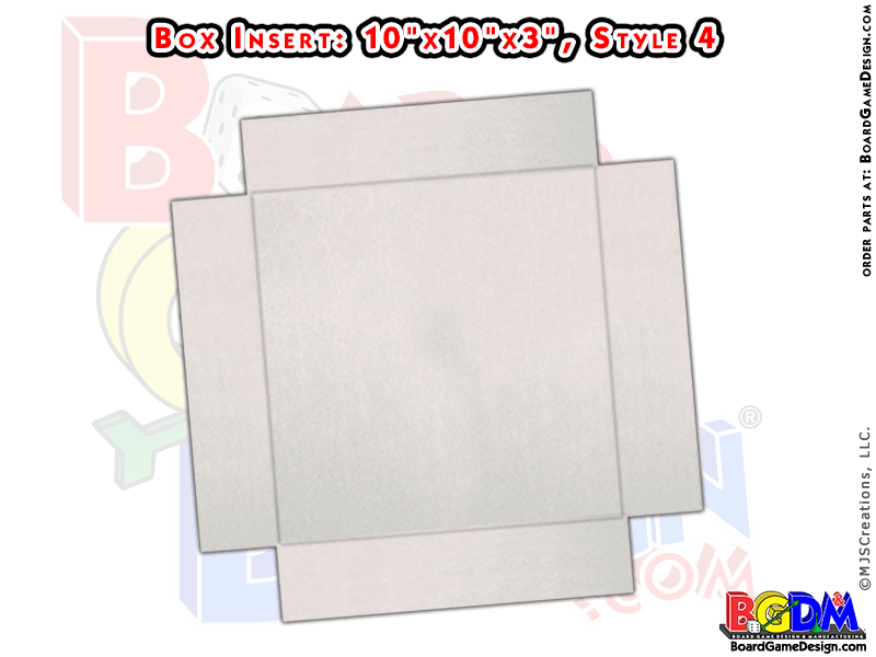 Box Insert for Quad-Fold Gameboard (Style 4)