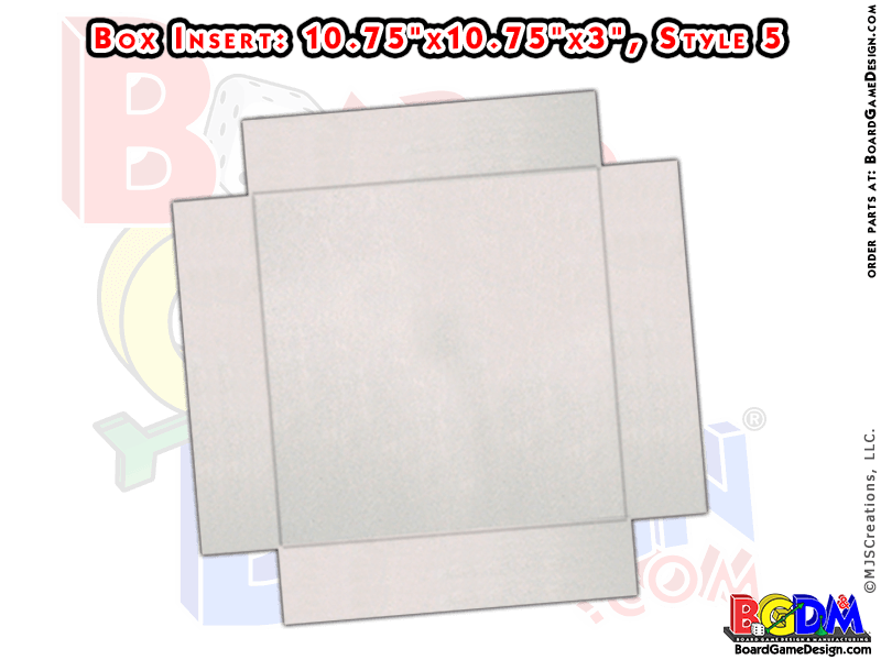 Box for Quad-Fold Gameboard (Style 5)