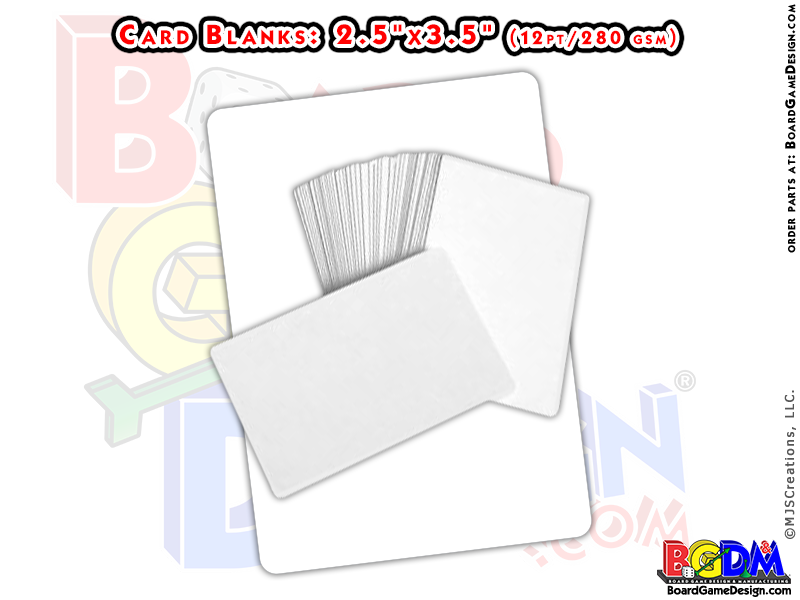 Card Blank Decks Style 1 O 99 Cent Game Parts