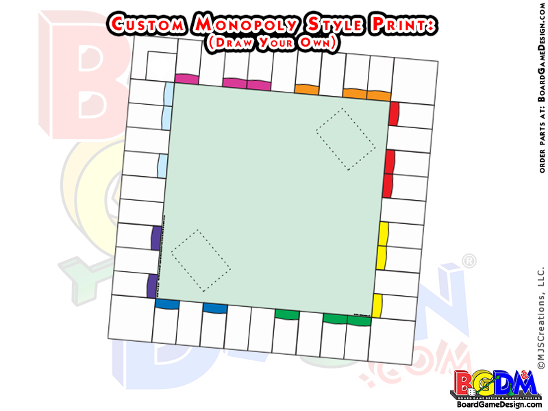 Make Your Own Custom Monopoly Game Boards, Pre-printed Sheets