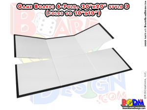 Blank Game Boards 6 (six) Fold, Style 3