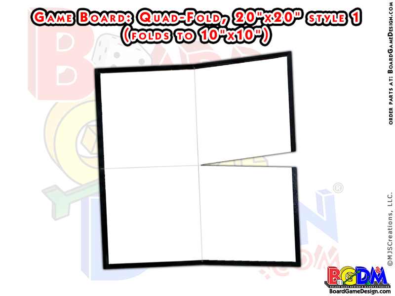 Blank Game Boards Quad Fold, Style 1