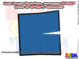 Game Board Blank 24 x 24 Quad-Fold