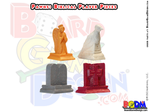 Bible / Biblical Board Game Player Pieces, Angel, Dove, 10 (ten) Commandments, Bible Game Parts, Religious Movers