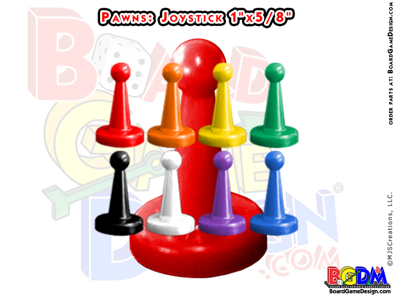 Pawns Joystick Shaped, player pieces, movers