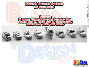 Pewter Pieces, Game Pieces, Custom Metal Player Pieces, Metal Players