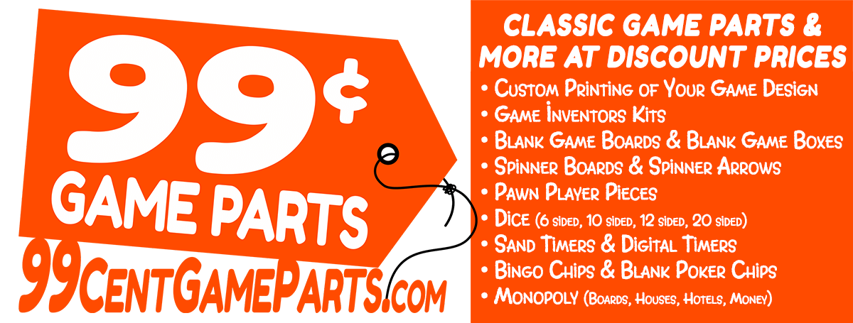 99 Cents Game Parts Classic Game Pieces, discount/inexpensive game parts