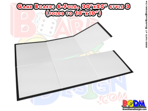Blank Game Boards, Boardgame Blanks, 6 fold, six fold
