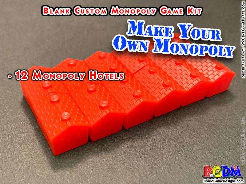 Blank Custom Monopoly Game Kit: Houses