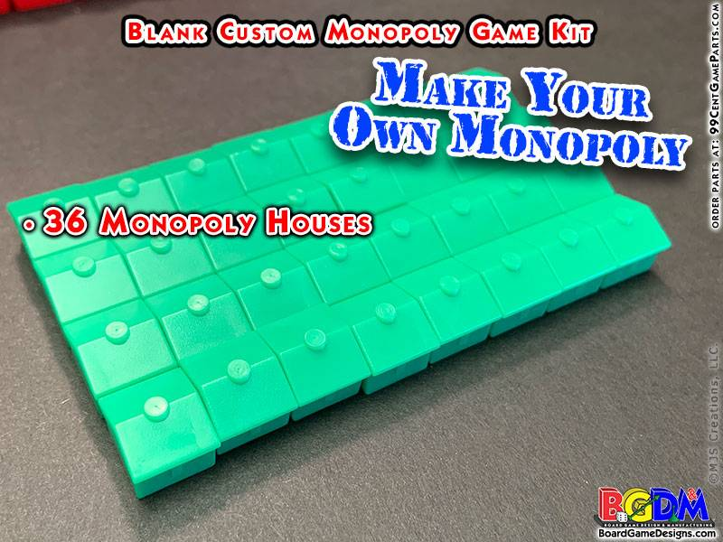 Blank Custom Monopoly Game Kit: Hotels