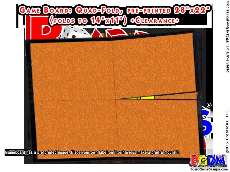 Game Board Blank 28 x 22 Quad-Fold